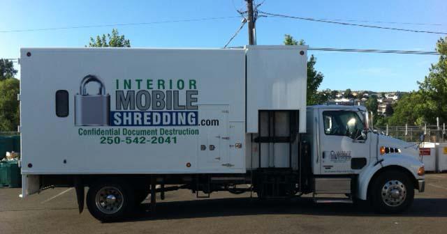 Interior Mobile Shredding Truck