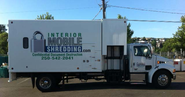 Interior Mobile Shredding Truck